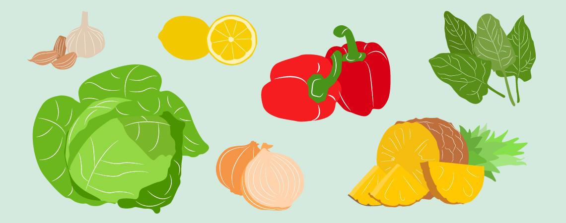 Warzywa i owoce, które warto jeść w sezonie wzmożonych infekcji
