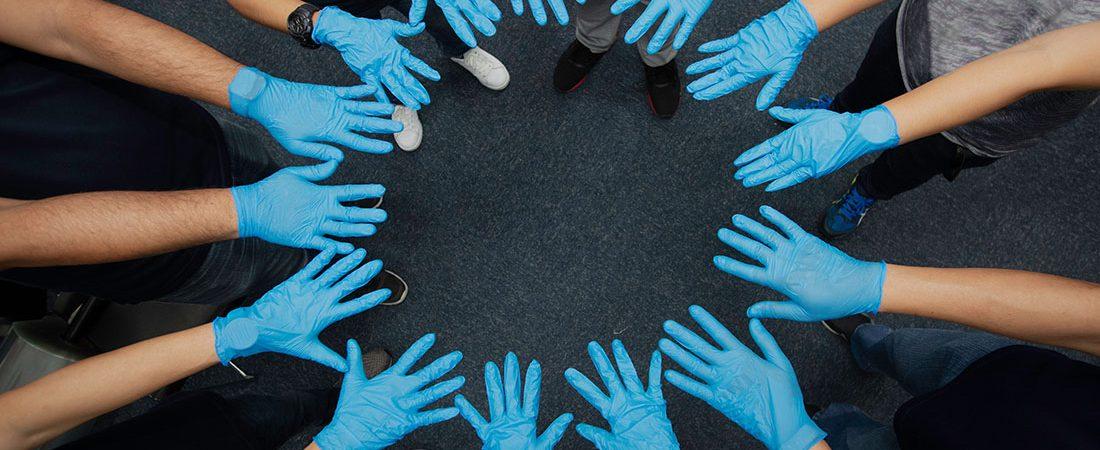 Rękawiczki, które uratowały ludzkość. #NieDajSięWirusowi
