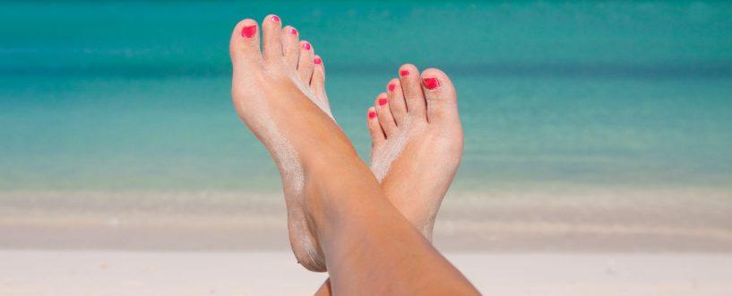 Piękne stopy nalato
